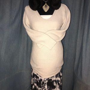 Old Navy Cream Maternity Textured Sweater Sz M